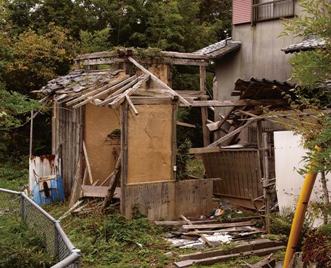 無人の家で倒壊などの問題
