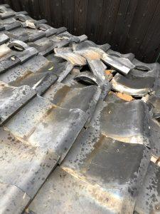 台風被害 屋根葺き替え